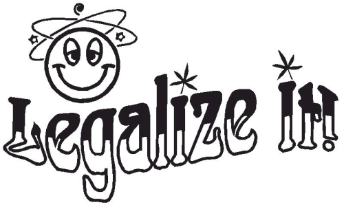 "Aufkleber ""Legalize it"""