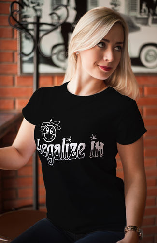 Damen T-Shirt - Funshirt - Legalize it
