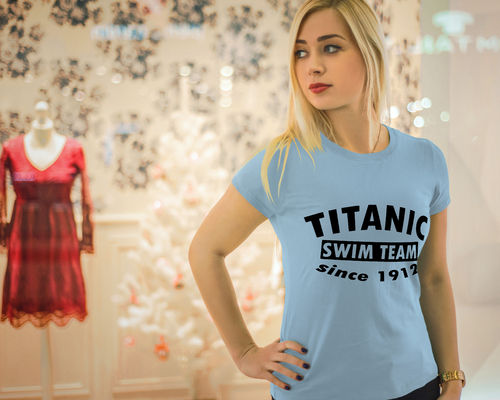 Damen T-Shirt - Titanic swim team since 1912
