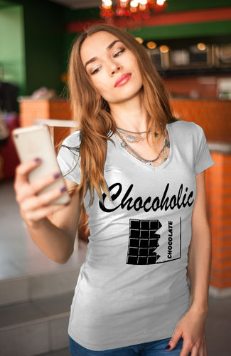 Damen T-Shirt Chocoholic - Schokoholic