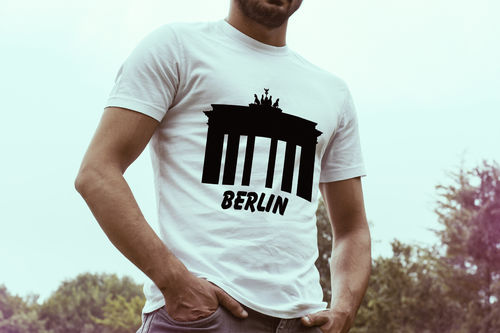 Herren T-Shirt Berlin - Brandenburger Tor