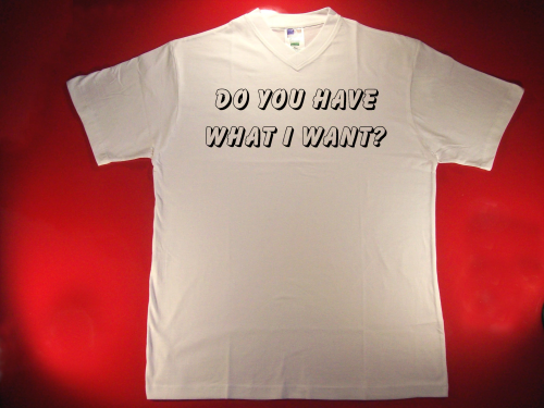 Tshirt Do you have what I want?