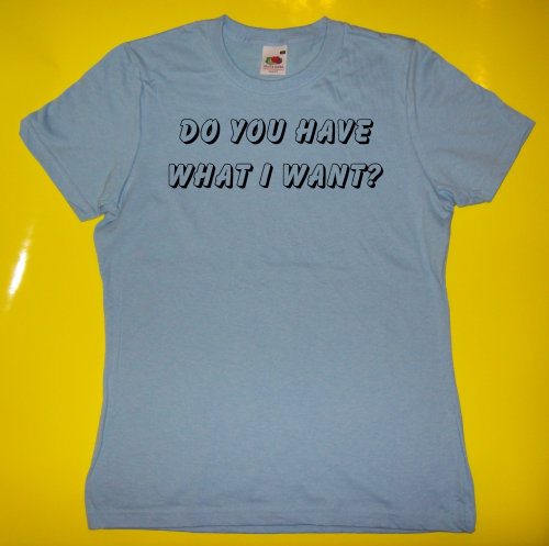 Sprüche T-Shirt - Do you have what I want?