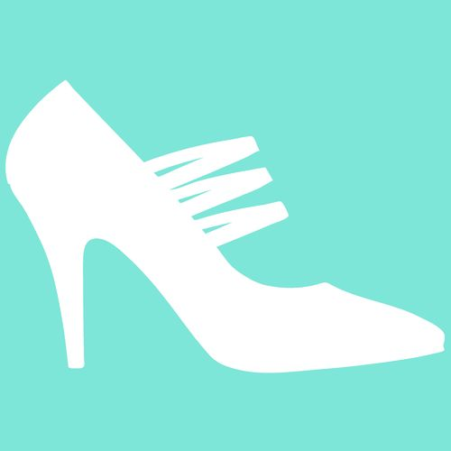 Airbrush Schablone High Heels Pumps 04