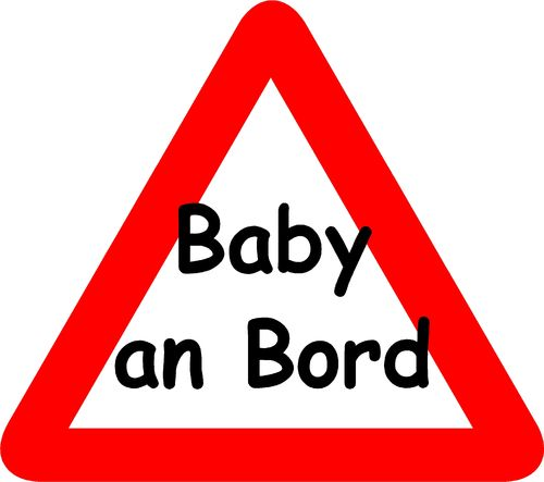 Baby an Bord / Baby on Board Aufkleber 01